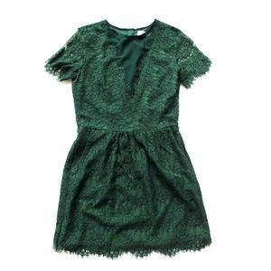 Anthropologie Dolce Vita Green Lace Dress